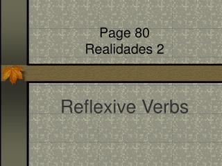 Page 80 Realidades 2