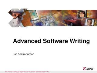 Advanced Software Writing