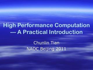 Chunlin Tian  NAOC Beijing 2011