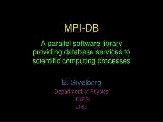 MPI-DB