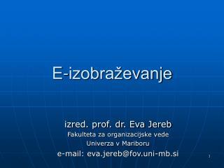 E-izobra evanje