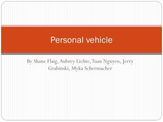 Personal vehicle