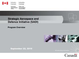 Strategic Aerospace and Defence Initiative (SADI)