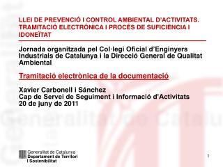 Generalitat de Catalunya Departament de Territori I Sostenibilitat