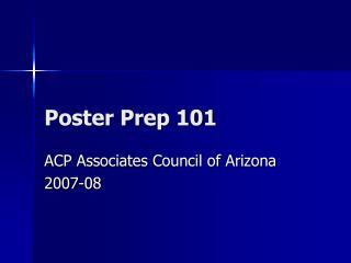 Poster Prep 101