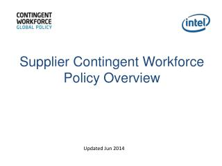 Supplier Contingent Workforce Policy Overview