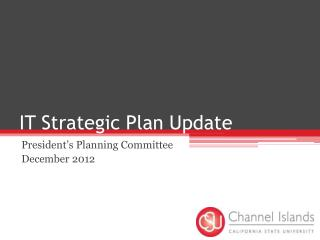 IT Strategic Plan Update