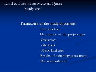 Land evaluation on Metema Quara Study area