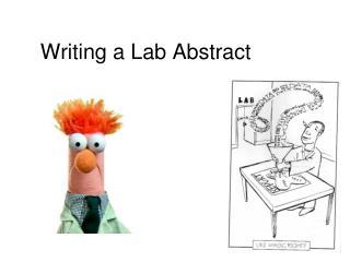 Writing a Lab Abstract
