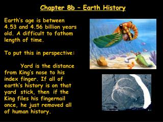 Chapter 8b – Earth History