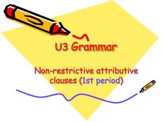 U3  Grammar