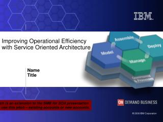 Improving Operational Efficiency  with Service Oriented Architecture