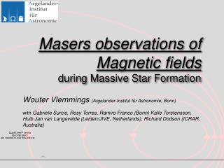 Masers observations of Magnetic fields  during Massive Star Formation