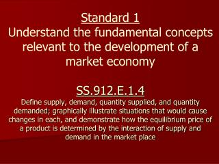 The Law of Demand: