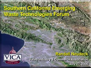 Southern California Emerging Waste Technologies Forum