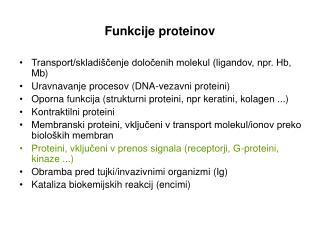 Funkcije proteinov