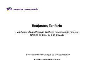 Reajustes Tarifário