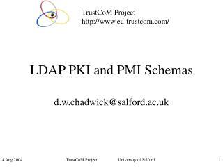 LDAP PKI and PMI Schemas