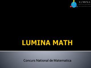 LUMINA MATH