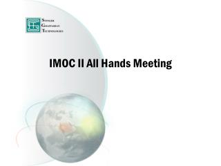 IMOC II All Hands Meeting