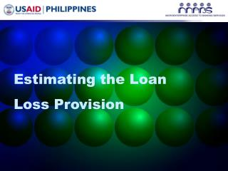 Estimating the Loan Loss Provision