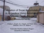 Estimation of Snow Accumulation in Antarctica Using Automated Acoustic Depth Gauge Measurements