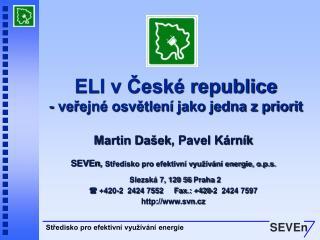 ELI v České republice - veřejné osvětlení jako jedna z priorit
