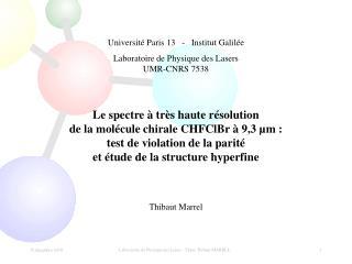 Université Paris 13   -   Institut Galilée