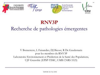 RNV3P Recherche de pathologies émergentes