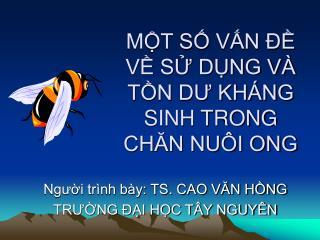 MT S VN   V S DNG V  TN DU KH NG SINH TRONG CHAN NU I ONG