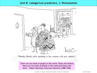 Unit 8: Categorical predictors, I: Dichotomies
