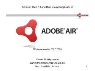 Seminar: Web 2.0 und Rich Internet Applications