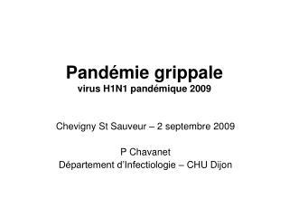Pandémie grippale virus H1N1 pandémique 2009