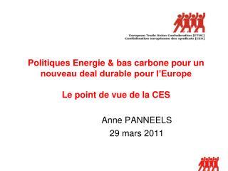 Anne PANNEELS 29 mars 2011