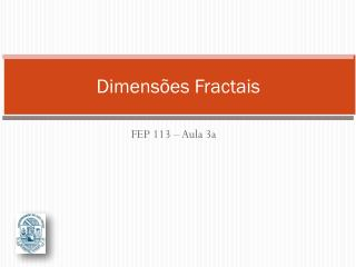 Dimensões Fractais