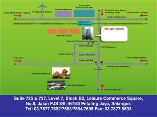 Suite 725 & 727, Level 7, Block B2, Leisure Commerce Square,