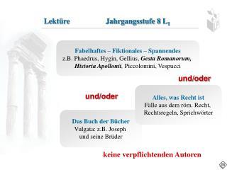 Das Buch der Bücher Vulgata: z.B. Joseph  und seine Brüder