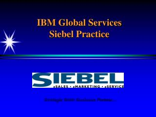 IBM Global Services Siebel Practice