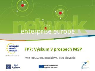 FP7: Výskum v prospech MSP
