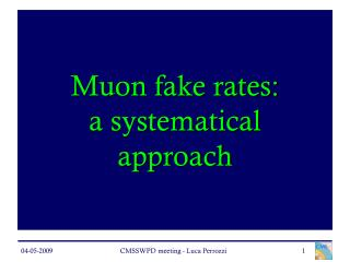 Muon fake rates: a systematical approach