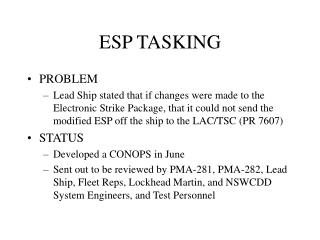 ESP TASKING