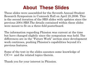 About  These Slides