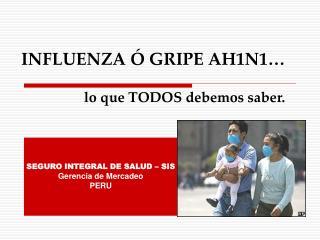 INFLUENZA Ó GRIPE AH1N1… lo que TODOS debemos saber.