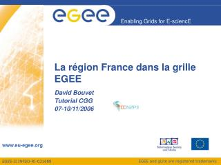 La région France dans la grille EGEE