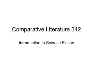 Comparative Literature 342