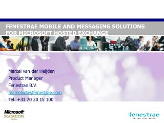 FENESTRAE MOBILE AND MESSAGING SOLUTIONS  FOR MICROSOFT HOSTED EXCHANGE