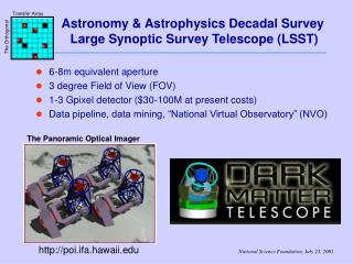 Astronomy & Astrophysics Decadal Survey  Large Synoptic Survey Telescope (LSST)