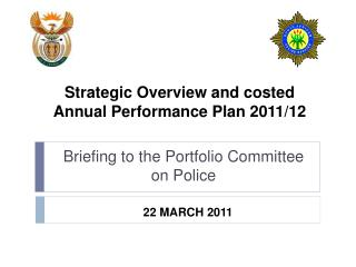 Strategic Overview and costed Annual Performance Plan 2011/12