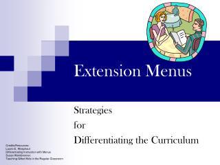 Extension Menus