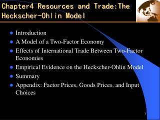 Chapter4 Resources and Trade:The Heckscher-Ohlin Model